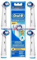 4 BRAUN ORAL-B PRECISION CLEAN (+29%) TOOTHBRUSH REPLACEMENT BRUSH HEADS EB20-4