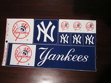"NY Yankees Bumper Sticker and Additional Stickers Sheet from 1984 12.5"" x 6.75"""