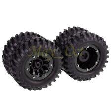 4x RC 1/10 Car Rock Crawler Beadlock Wheel Rim & 96mm Tyre Tires 4037H-7006