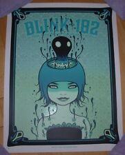 Blink 182 concert gig poster print Salt Lake City 9-22-16 2016 Tara McPherson