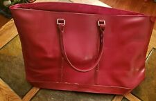 Large Red Tote Bag, Organizer Purse,  handbag Faux Leather, Women's tote