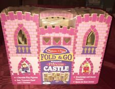 Melissa  Doug Fold and Go Wooden Princess Castle With Figures & Furniture New