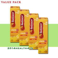 4 x Redoxon Vitamin C Orange Effervescent Tablets 15's