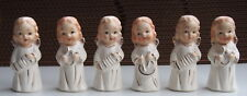 6 VTG JAPAN Christmas Angel figurines Playing Instruments Musician Group