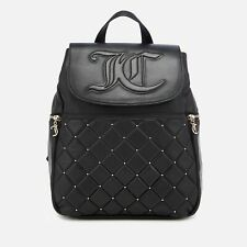 Juicy Couture Women's Real Leather Ellen Flapover Backpack Schoolbag Rrp £199
