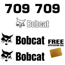 Bobcat 709 Backhoe Attachment Skid Steer Vinyl Decal Sticker + FREE APPLICATOR