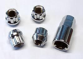 Suzuki Chrome Locking Wheel Nut M12x1.25mm Open End Vitara SJ410 SJ413