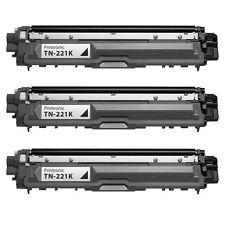 3PK Brother TN221 Black Toner Cartridge MFC-9330CDW MFC-9340CDW  TN-221 B