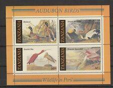 Block Tansania Enten und Storche postfrisch ** , duck , pato