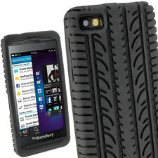 Black Silicone Tyre Skin for BlackBerry Z10 BB 10 Case Cover Holder Shell
