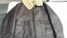 US Navy M445  Leather Jacket MFG Willis And Geiger Size 40 R  Named