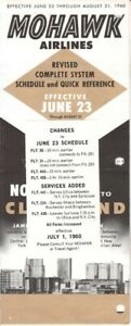 Mohawk Airlines timetable 1960/06/23