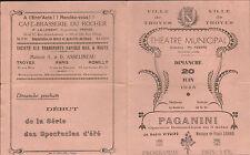 10 TROYES PROGRAMME THEATRE MUNICIPAL PAGANINI OPERETTE 1943