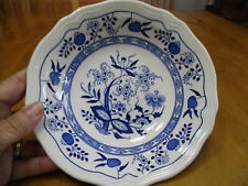 """Loire Blue NIKKO,Blue Onion Soup/Salad Bowl,6 3/4"""" Diameter Ironstone!"""