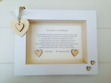 Shabby Personalised Chic Box Frame Present Mother Of The Bride Gift Wedding