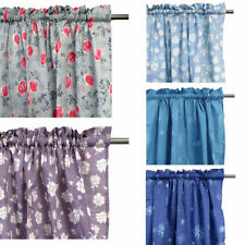 Floral Unlined Panel Window Curtains