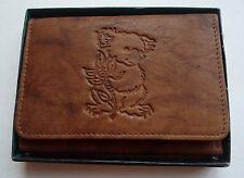 Koala Bear Genuine Leather Wallet,Tan