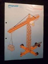 Playmobil Bauanleitung Elektrischer Baukran 3262 ! ( Nur die Bauanleitung ) !