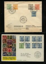 Sweden 2 nice large stamps covers Ms1220
