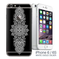 iPhone 6 White Mandala - mandala stickers - iphone 6 sticker / iphone 6 decals