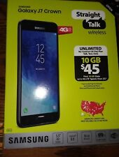 "STRAIGHT TALK SAMSUNG GALAXY J7 CROWN 5.5"" SMART PHONE ANDROID NEW 13 MP 16 GB"