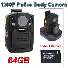 64GB 1296P Mini Wearable Body Pocket Police Video Camera Recorder Night A01