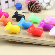 5PCS Mini Sucker Silicone Pig Shape Holder Mobile Cell Phone Stand Funny Mounts