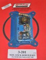 Quick Fuel Holley Carb 4412 Carburetor 2 Barrel Rebuild Kit 4160