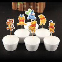 24pc Winnie the Pooh Cake Picks Cupcake Toppers Birthday Party Tigger Eeyore