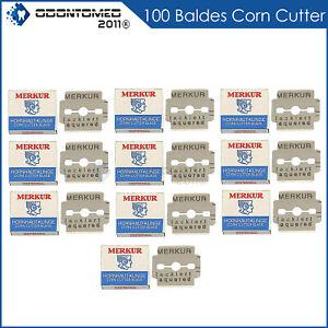 100pcs merkur solingen germany platinum coated corn callus remover blades set