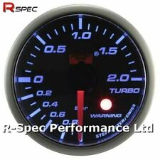 52mm Blue Stepper Motor Warning Turbo Boost Pressure Gauge BAR - With Warning