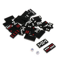 Traditional Paigow Tiles Set Dominoes Game Board Games Collectible with Dice