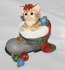 Lenox Waiting For Santa Cat Figurine Porcelain Handpntd 2008 Christmas COA & Box