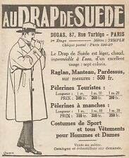 Z9561 Au Drap de Suede - DUGAS -  Pubblicità d'epoca - 1927 Old advertising