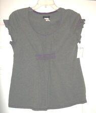 Bay Studio Gray & Purple  Shirt Top Size Medium  NWT