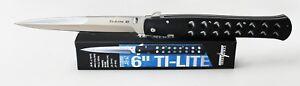 "Cold Steel 6"" Ti-Lite 26SXP Zytle Handle AUS8 Steel 6"" Plain Edge Blade Knife"