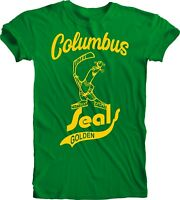 Columbus Golden Seals DEFUNCT NHL ICE HOCKEY VINTAGE STYLE Green T-SHIRT Team
