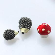3pcs hedgehog Style Figurine Mini Landscape Modern Garden decoration Ornaments