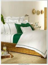 Nip $285 Ralph Lauren Twin Duvet/Comforter Cover White/Cricket Green Cotton