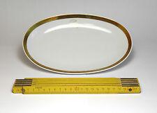 Kleine Servier-Platte 23 x 15 cm, Palast der Republik, PdR Goldrand-Geschirr
