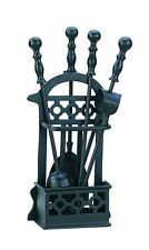 Manor Black Victorian Fireside Fireplace Fire Companion Tool Set 410mm - 1145