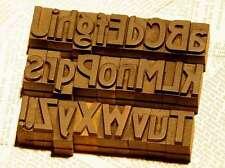 A-Z 27 mm Mix Alphabet Holzlettern Plakatschrift Lettern Holzbuchstaben Letter