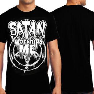 Killers Never Die Davey Suicide Satan Worships Me Rock Metal Men's T-Shirt Black