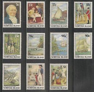 Norfolk Island #426-436 (A92) VF MNH 1987 - 5c to $1 Bicentennial