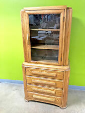 Art Deco Era Oak China Cabinet