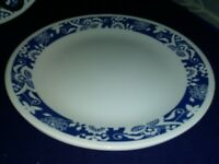 "SET OF 3 - CORNING CORELLE - TRUE BLUE - 10 1/4"" DINNER PLATES - BEAUTIFUL"
