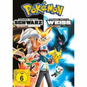 Pokémon - Der Film: Schwarz - Victini und Reshiram / Weiß DVD NEU OVP