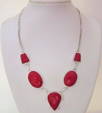 """925 Sterling Silver Necklace With Coral With 20 1/2"""" Length  (nk1712)"""