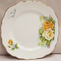 English Ridgway Potteries Colcough Rose Bone China Side Plate c1962-64