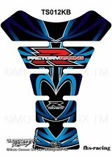 TS012KB , MOTOGRAFIX - Tankpad , Tankprotektor , Suzuki , Racing , schwarz blau